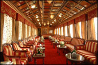 Lounge in Palace on Wheels Luxury Train
