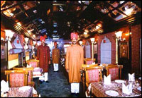 Restaurent in Palace on Wheelss Luxury Train, Rajasthan